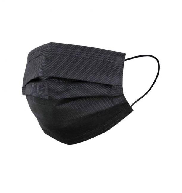 3-lagige TYP IIR MNS Maske - Farbe Schwarz - 10er Pack
