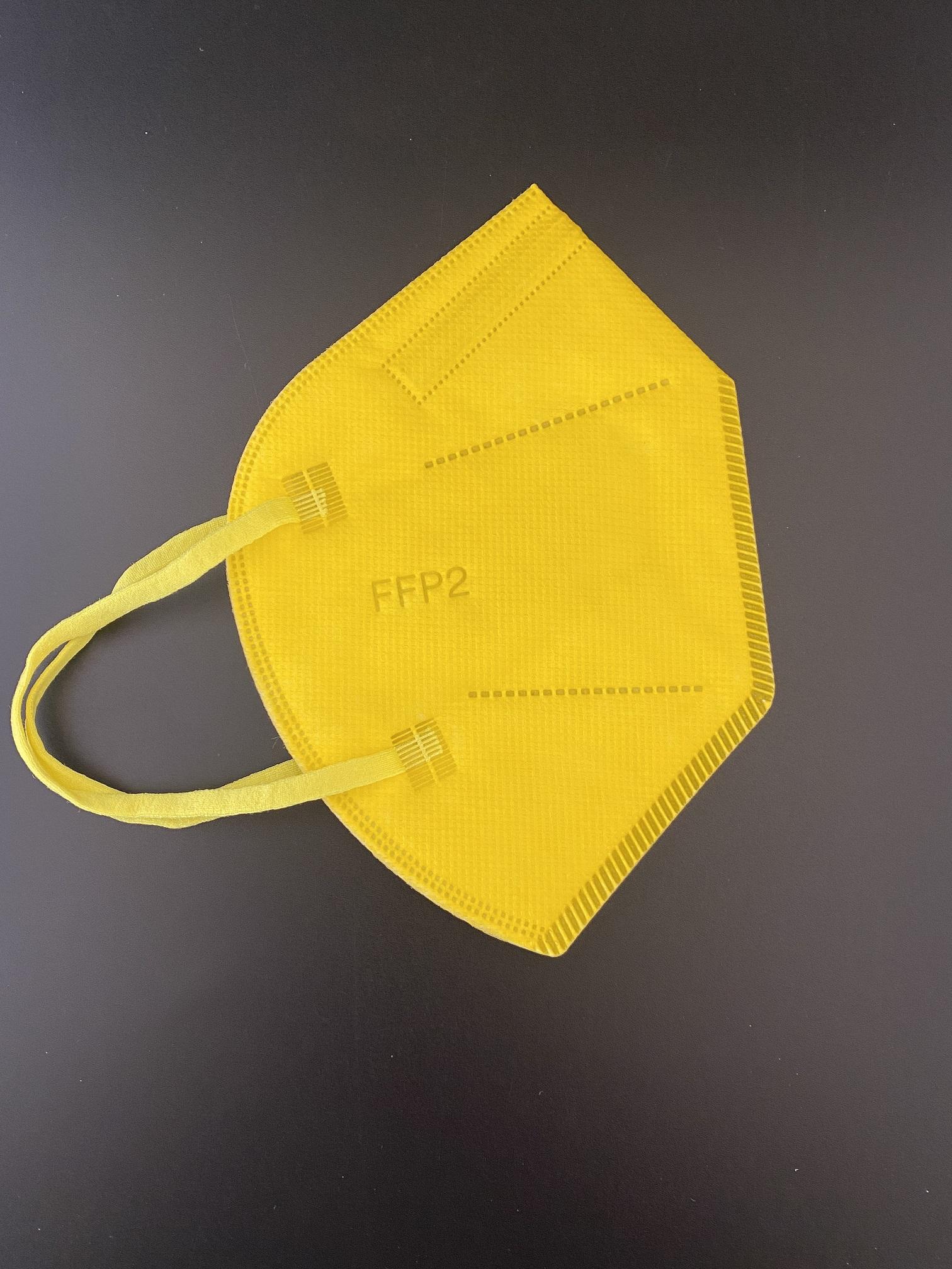 CTPL-0020 FFP2 NR Maske CE0598 5-lagig Gelb