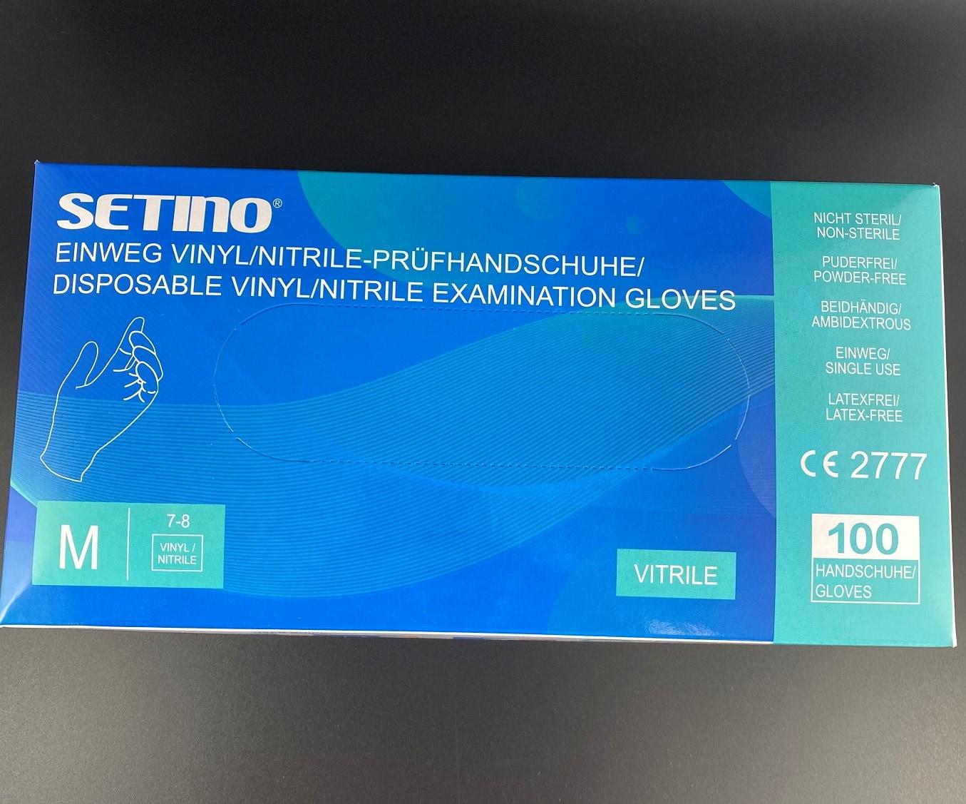 Setino Einweg Vinyl/Nitril Handschuhe Gr. M