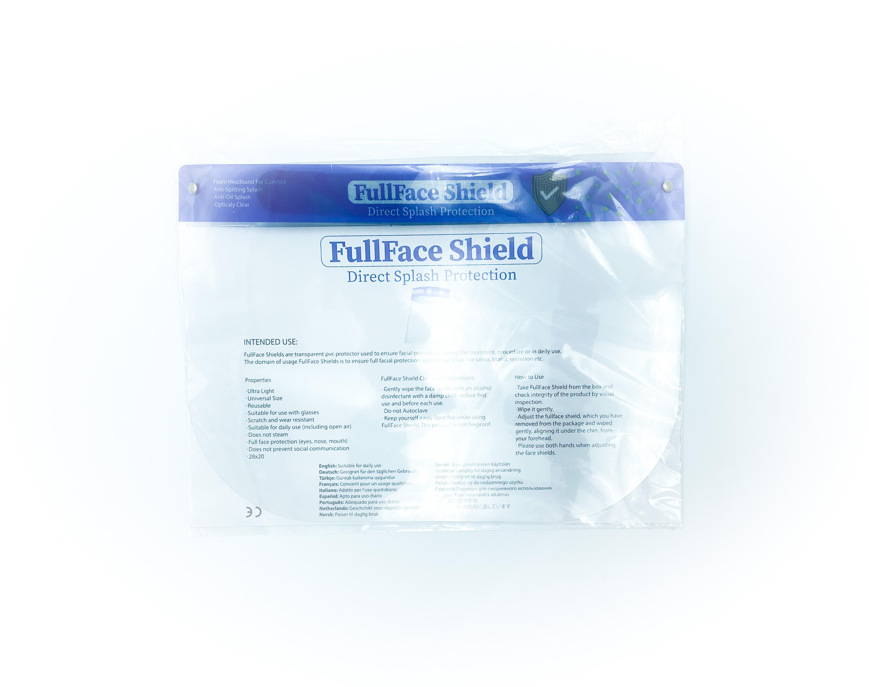 Face Shield mit Schaumstoffpolster