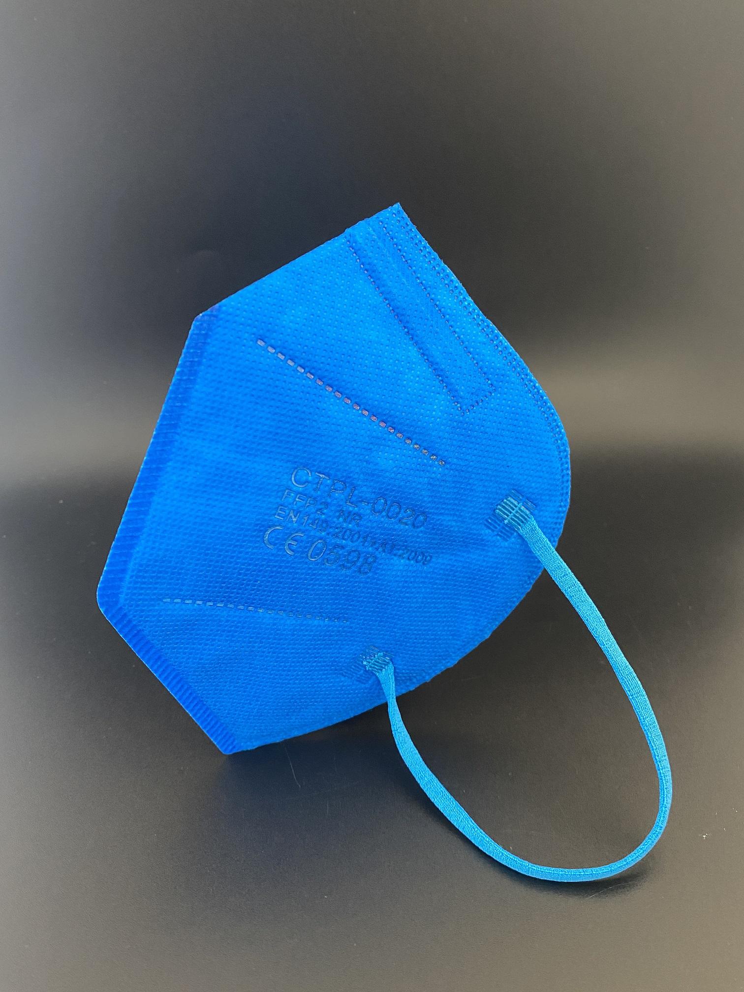 CTPL-0020 FFP2 NR Maske CE0598 5-lagig Electric Blue