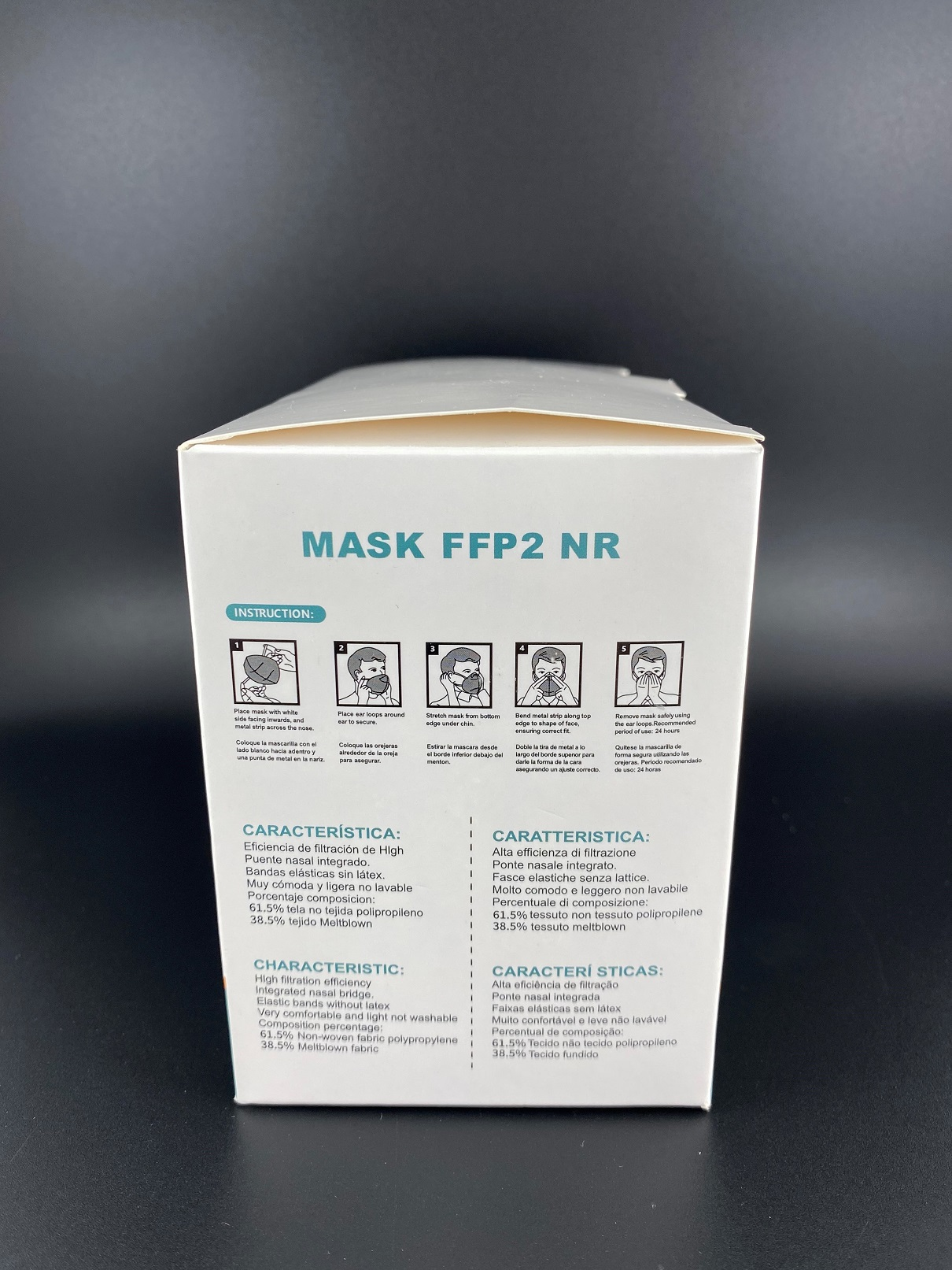 Mask One Kids FFP2 Maske Schwarz CE0370