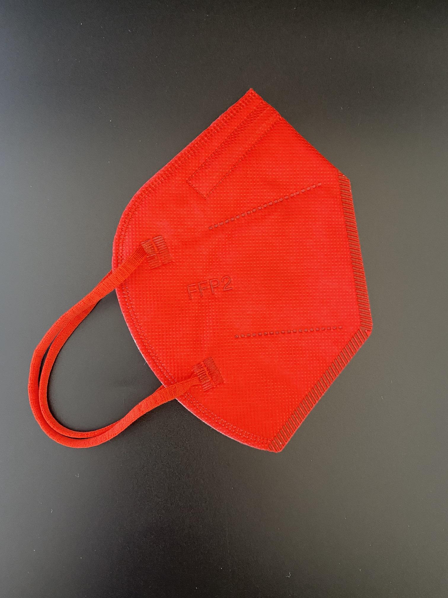 CTPL-0020 FFP2 NR Maske CE0598 5-lagig Rot