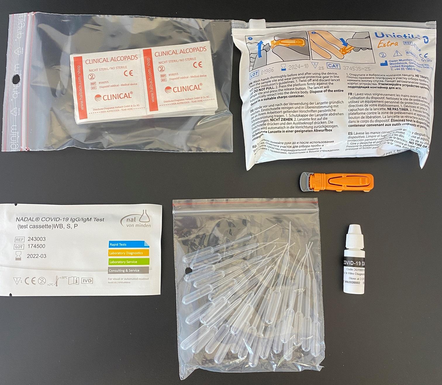 Nadal Covid-19 IgG/IgM Antikörper Schnelltest